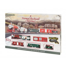 Bachmann HO Scale A Norman Rockwell Christmas Train Set
