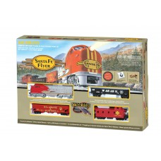 Bachmann HO Scale Santa Fe Flyer Train Set