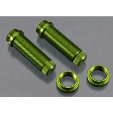 Rear Threaded Aluminum Shock Bodies Green (2)