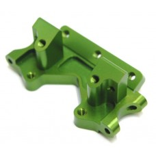 STRC Machined Aluminum Front Bulkhead Green Slash