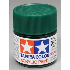 X5 Green 3/4 oz Acrylic Paint Jar