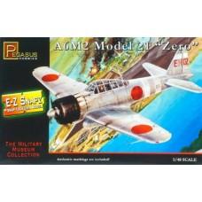 1:48 Snap A6M2 21 Zero Plastic Model