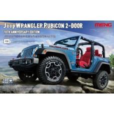 Meng 1:24 Jeep Wrangler Rubicon 2-Door 10th Anniversary Plastic Model Kit