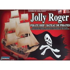 Lindberg 1/130 Jolly Roger Pirate Ship Plastic Model Kit