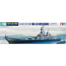 1:700 BB-63 Missouri Battleship Plastic Model Kit
