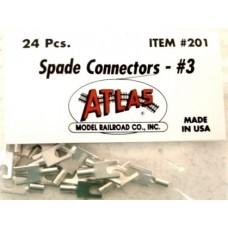 Atlas #3 Spade Connectors (24)
