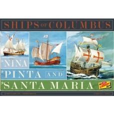 1:144 Ships of Columbus Plastic Model Set