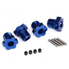 Traxxas E-Revo VXL Splined 17mm Wheel Hubs Blue