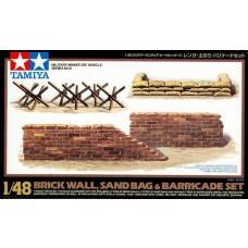 Tamiya 1/48 Brick Wall / Sandbag / Barricade Plastic Model Set