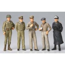 Tamiya 1/48 WWII Famous Generals Figure Plastic Model Set