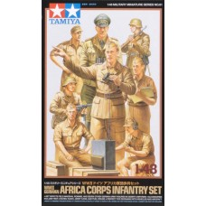 Tamiya 1/48 German Africa Corps Infantry Plastic Figure Set
