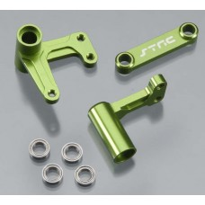 Aluminum Steering Bellcranks Green Slash/Rustler