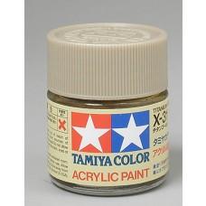 X31 Titanium Gold 3/4 oz Acrylic Paint Jar