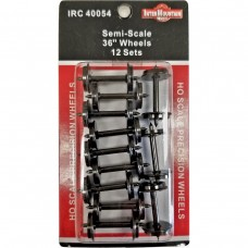 "Intermountain HO 36"" Semi-Scale All Brass Insulated Wheel Sets 12 Pack"