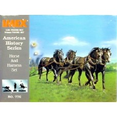 Imex Model Co. 1/32 Confederate Horses Plastic Model Kit