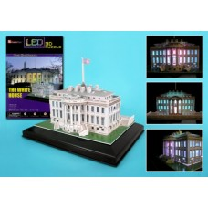 WHITE HOUSE 3D PUZZLE WITH BAS