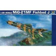 1:32 Mig-21 MF Fishbed J Single Plastic Model Kit