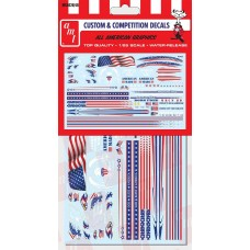 AMT 1/25 All American Graphics Custom Decal Set