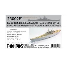 1:200 USS BB-63 Missouri 1945 Detail Set