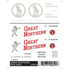 Great Northern Box Car Graphics Dry Transfer Decals DT610