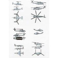 1/350 US Marines Air Group Aircraft/Heli Set