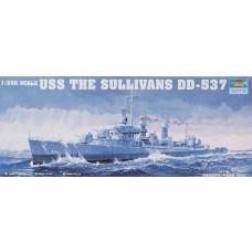 1:350 USS The Sullivans DD-537 Plastic Model Kit
