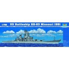 1:700 USS Missouri BB63 1991 Plastic Model Kit