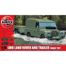 1:76 Land Rover Hard Top & Trailer Plastic Model Kit