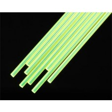 FARG-3H Fluorescent Green Acrylic Round Rod, 3/32 (8 pcs)