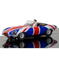 1/32 Jaguar E-Type Union Jack Slot Car