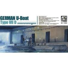 AFV Club 1/350 WWII U-Boat VIId Submarine Plastic Model Kit