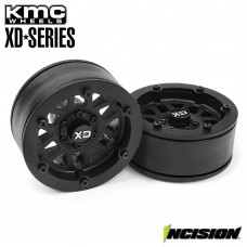 "Incision 1.9"" KMC XD229 Machete Plastic Beadlock Wheels Black"