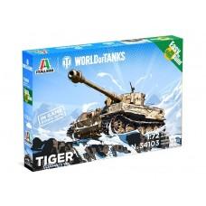 Italeri 1:72 Pzkfw. VI Tiger I (World of Tanks) Fast Assembly Plastic Model Kit