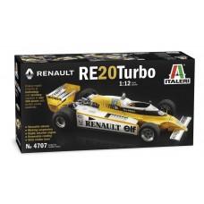 Italeri 1:12 Renault RE20 Turbo Formula 1 Plastic Model Kit