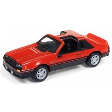 Johnny Lightning 1/64 1982 Ford Mustang Bittersweet Orange Die-Cast Car