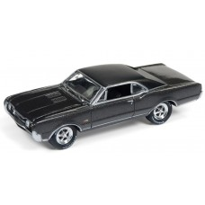 Johnny Lightning 1/64 1967 Olds 442 W-30 Pewter Metallic Die-Cast Car
