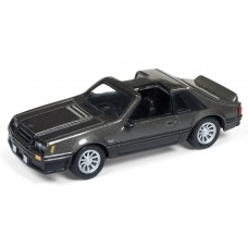 Johnny Lightning 1/64 1982 Ford Mustang Dark Pewter Metallic Die-Cast Car