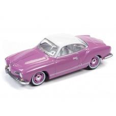 Johnny Lightning 1/64 VW Karmann Ghia Pop Lilac Die-Cast