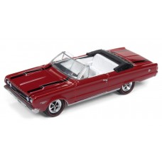 Johnny Lightning 1/64 1967 Plymouth GTX Bright Red Die-Cast Car