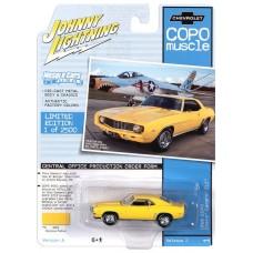 Johnny Lightning 1:64 1969 COPO Camaro Yellow Die-Cast Car