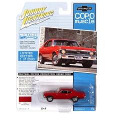 Johnny Lightning 1:64 1968 COPO Nova Red Die-Cast Car
