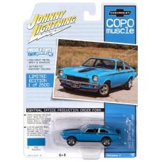 Johnny Lightning 1:64 1971 COPO Vega Blue Die-Cast Car