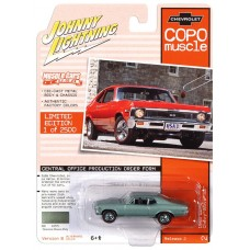 Johnny Lightning 1:64 1968 COPO Nova Green Die-Cast Car