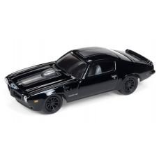 Johnny Lightning 1/64 1973 Pontiac Firebird Gloss Black w/ Silver Streak JLSF009