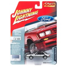 Johnny Lightning 1/64 1982 Ford Mustang Silver Poly Die-Cast Car