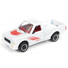 Johnny Lightning 1/64 1991 GMC Cyclone Gloss White Die-Cast Car