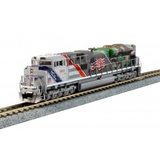Kato N Scale EMD SD70ACe w/Nose Headlight - LokSound and DCC UP #1943 Locomotive
