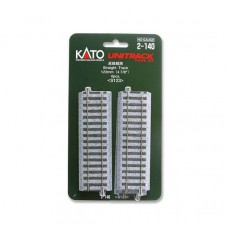 "Kato HO Unitrack Straight Sections 4-7/8""/123mm (4)"
