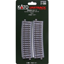 Kato HO Scale 867mm Radius 10º Curve Track