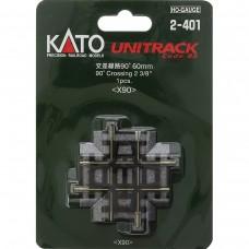 """Kato HO Scale 90 Degree Crossing 2 3/8"""" Model Train Track"""